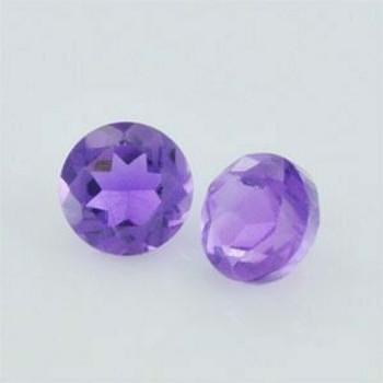 4x4x2.80 mm Round Eye Clean Purple Amethyst, Sold By each   RG017