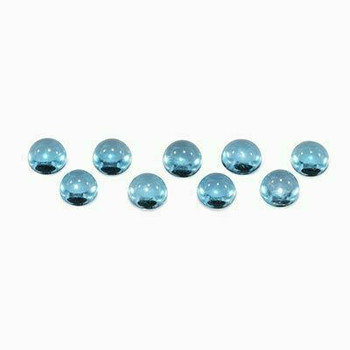 5x5x3 Round Eye Clean Swiss Blue Topaz, Sold By each   RG007