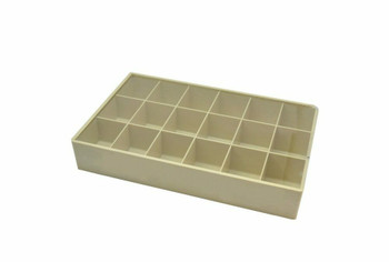 Plastic Tray with Slide Cover, 18 Compartments, Item No. 15.201