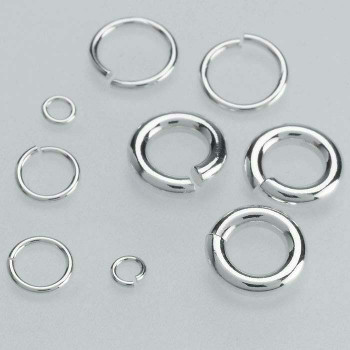 Sterling Silver 4mm Round Jump Ring | Bulk Prc Avlb | Sold by Each | 693613