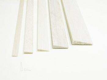 "Balsa wood, Trailing edge, 1/8 x 1/2 x 12"", Sold By Each   BWP1274"