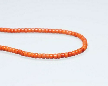 """Heishi Orange Coral (Dyed) Beads 3x4mm 
