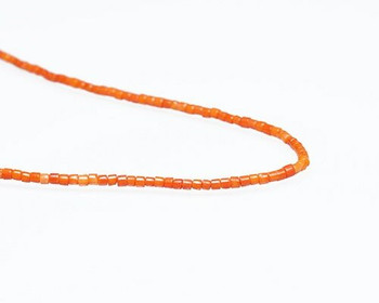 """Heishi Orange Coral (Dyed) Beads 2x3mm 