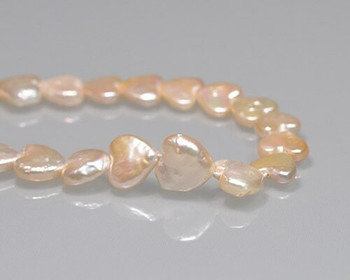 Heart Shape Freshwater Pearl Beads 9x10mm   Sold by 4 Pcs/Pk   BS0109