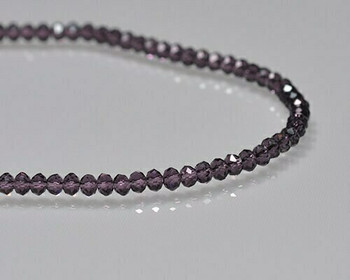 """Briolette Amethyst Crystal Beads 3x 3.5mm 
