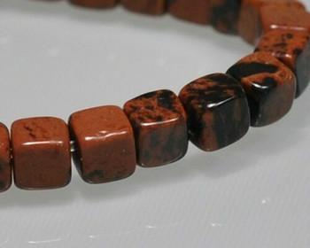 "Cube Golden Swan Jasper Beads 4mm | Sold by 1 Strand(7.5"") | BS0105"