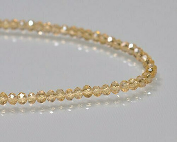 """Briolette Light Topaz Crystal Beads 3x 3.5mm 