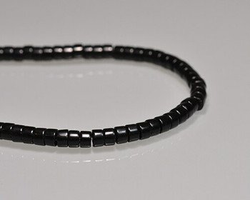 """Drum Obsidian Beads 3.5x6mm 