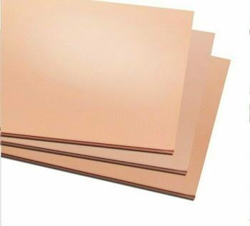 Copper Sheet 200x200x0.5mm (7.9x7.9x0.02in.) | CS202005