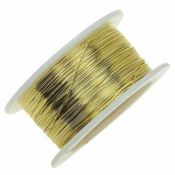 Jeweler's Brass/NuGold Round Wire, 14Ga (1.6mm)| 1lb Spool | 130314