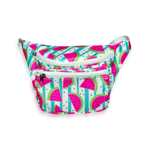 Front view of watermelon fanny pack