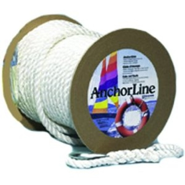 "Unicord White Twisted Nylon Anchor Line 5/8"" x 300'  301515"