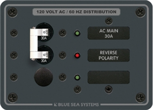 Blue Sea Systems 8029 120V AC Main + 1 Position Circuit Breaker