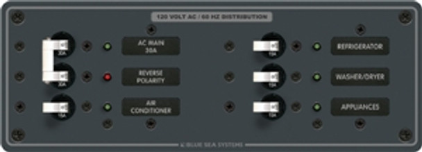 Blue Sea Systems 8099 120V AC Main + 4 Positions Circuit Breaker Panel