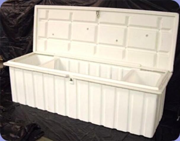 """RomoTech 76""""x25""""x22.5"""" Large Dock Box - White 82121349"""