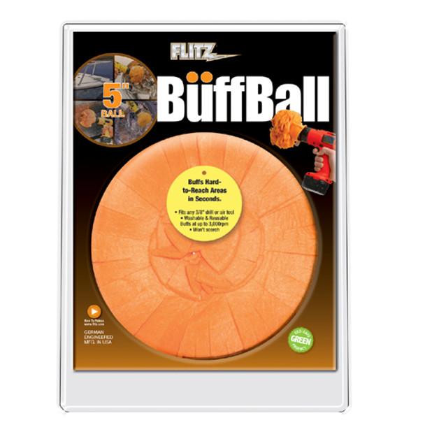 "Flitz Large Orange 5"" Clamshell Buff Ball"