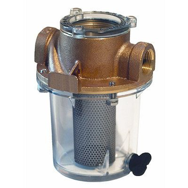 """Groco Raw Water Strainer with #340 SS Basket 3/4"""" Stainless Steel Short ARGS-755-S"""
