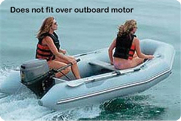 """Taylor Made Inflatable Sport Boat Semi-Custom Cover 11' 5""""  -  12' 4"""" with Gray   70129OG"""