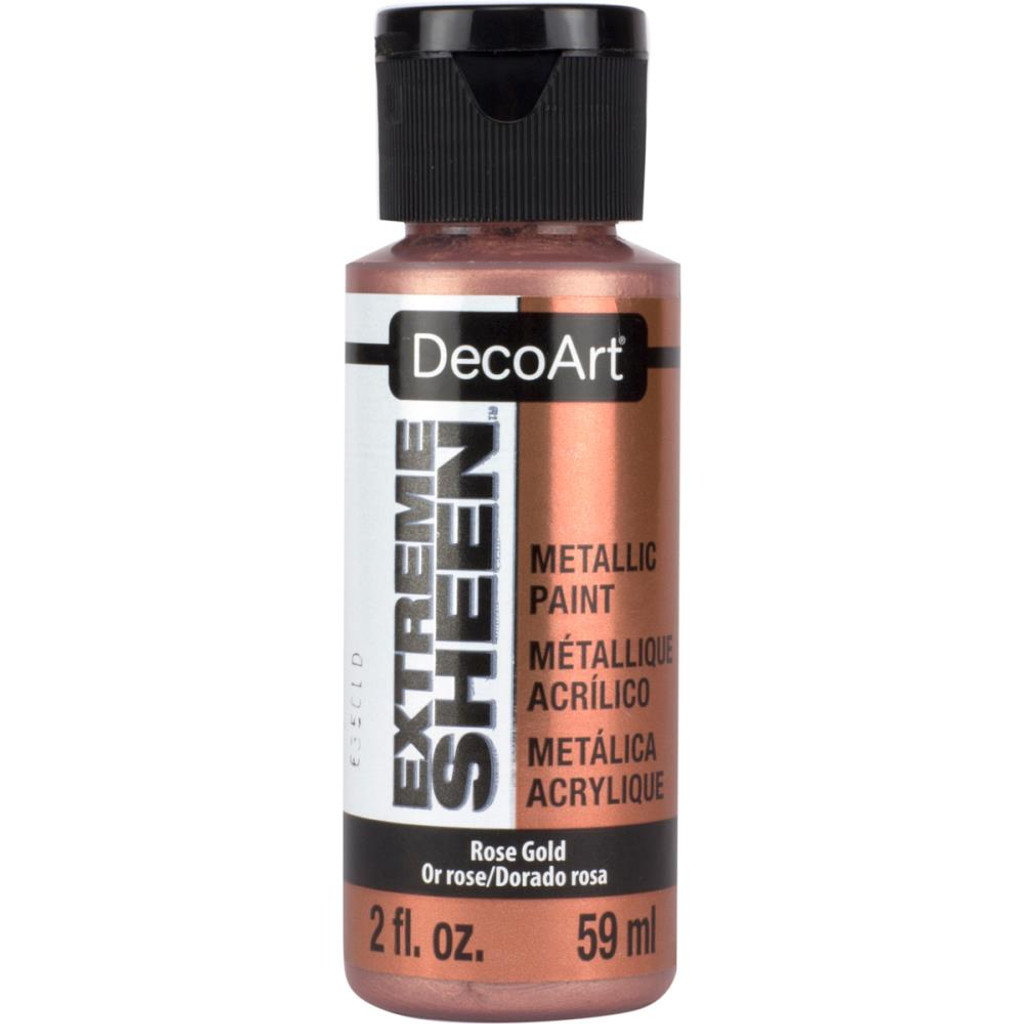 Extreme Sheen Paint 2 Oz Rose Gold Poly Clay Play