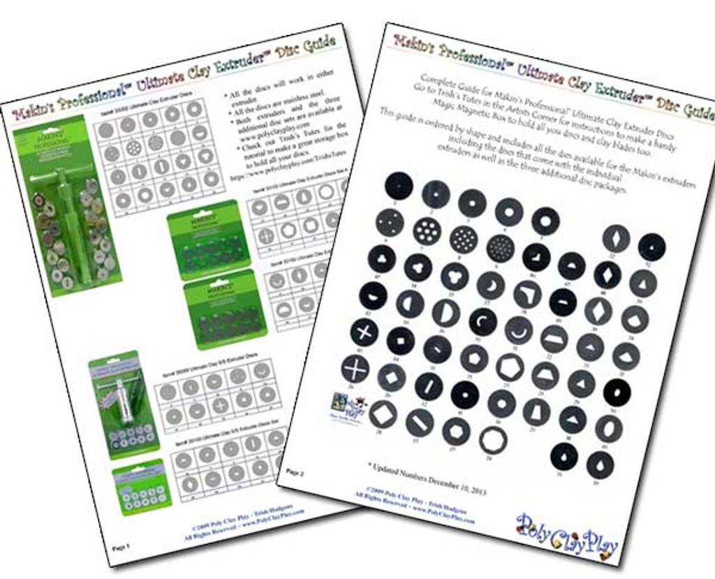Makin's Extruder Disc Number Guide