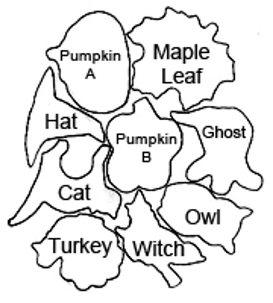 Halloween Cutter Set B Makin's 9 Piece