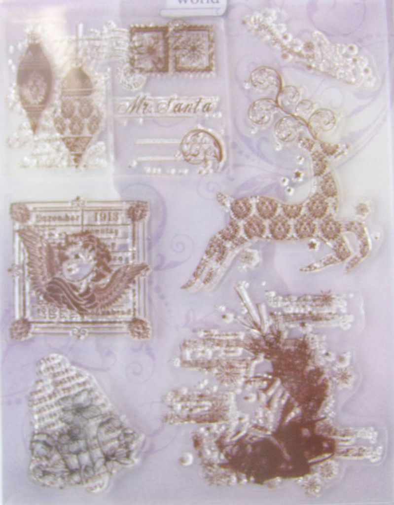 Rubber Stamp Set by Viva Decor - Christmas Motifs