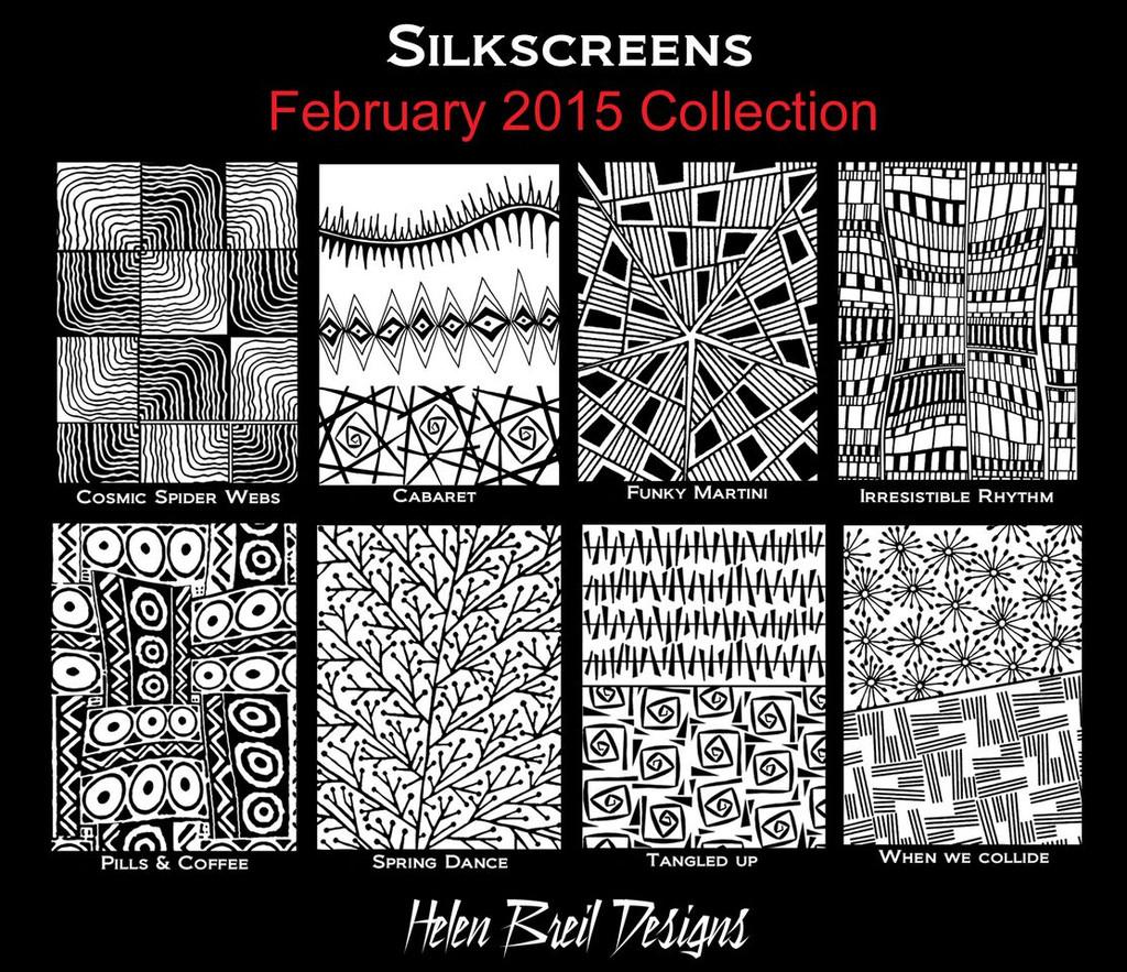 Helen Breil Silk Screens - Funky Martini