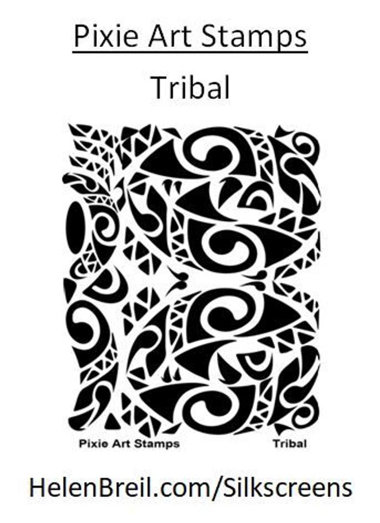 Mike Breil Silk Screen - Tribal