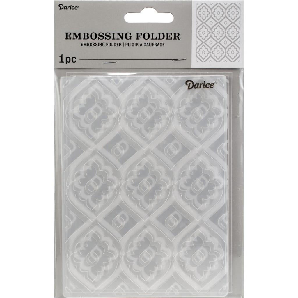 "Background Embossing Folder 4.25""X5.75"" - Tile Pattern"