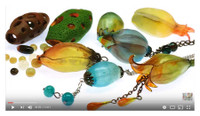 Translucent Fimo and Pardo Beads