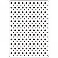 "Background Embossing Folder 4.25""X5.75"" - Multi Sized Dots"