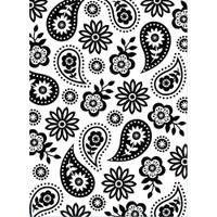 """Background Embossing Folder 4.25""""X5.75"""" - Floral Paisley"""