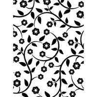 """Background Embossing Folder 4.25""""X5.75"""" - Flowers & Vine"""