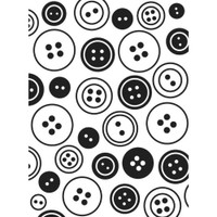 "Background Embossing Folder 4.25""X5.75"" - Buttons Background"
