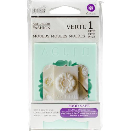 """Vertu - Iron Orchid Designs Vintage Art Decor Mould 2.5""""X3.5"""""""