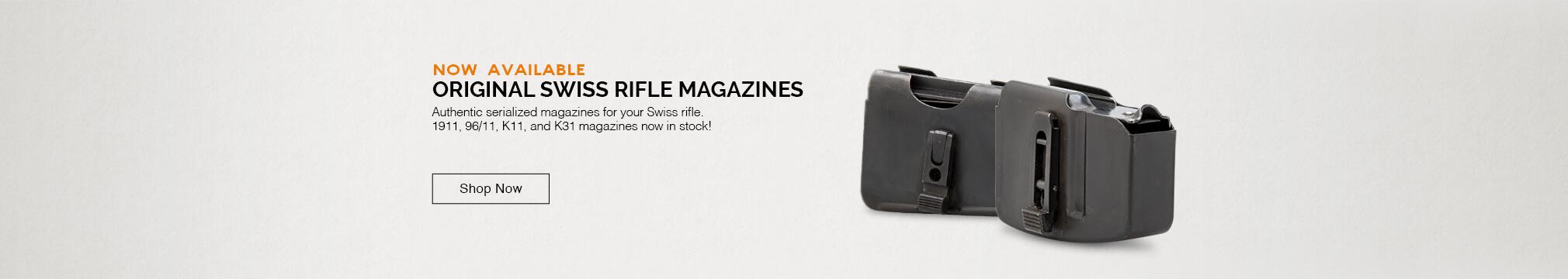 Swiss rifle magazines