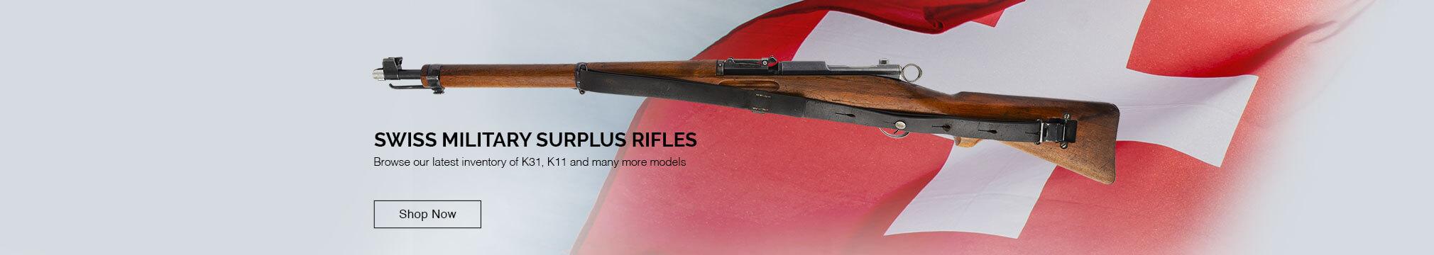 Swiss military rifles