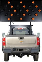 Solar Powered Vehicle Mount Silent Flashing Arrow Board Traffic Advisor Panel 25 LED Lamp by SolarTech