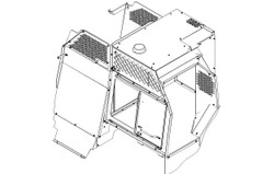 Havis Ford Police Interceptor SUV Utility Dog K9 Kennel Box and Prisoner Transport System 2013 to 2018