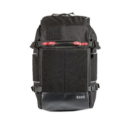 5.11 Tactical OPERATOR ALS BACKPACK 26L, Easy grab aluminum carry handle and reflective pulls/trims, Full clamshell opening main compartment with red webbing pulls, Black, 56395