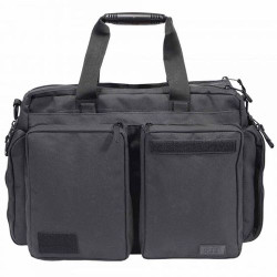 5.11 Tactical SIDE TRIP™ BRIEFCASE, 1000D textured nylon, Sturdy grab-and-go molded handles, Expandable side pockets, Black, 56003019