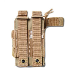 5.11 Tactical DOUBLE PISTOL BUNGEE/COVER, N500D body/ N1050D base, Includes standard flap cover and bungee retention, Elastic compression for stable and silent operation, Multicam, 56386169