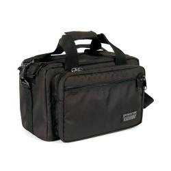 BLACKHAWK  SPORTSTER™ DELUXE RANGE BAG, Removable Gun rug pistol pouch with Internal soft fabric to protect firearm, Integral pockets to hold two handguns, Multiple internal pockets for organizing magazines, ammo or accessories, Black, 74RB01BK