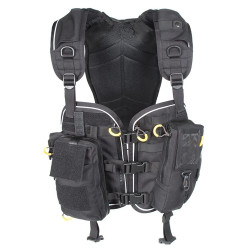 BLACKHAWK INITIAL RESPONSE VEST, Reinforced drag handle, Adjustable for length and girth, S.T.R.I.K.E.® webbing for attaching pouches or accessories, Black, 31RV01BK