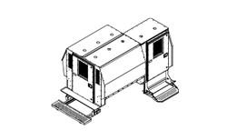 "Havis Chevy Express G-Series Van 7 or 8 Prisoner Transport 2 Compartment 100"" Insert Kit 2007-2018"