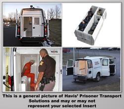 "Havis Chevy Express G-Series Van 10 Prisoner Transport 2 Compartment 100"" Insert Kit 2007-2018"