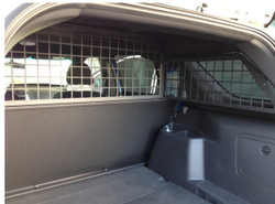 Troy Ford Police Interceptor SUV Utility (Explorer) Rear Partition Cage, Cargo Barrier 2013+, covers side rear windows also