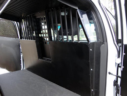 American Aluminum EZ Rider K9 Police Vehicle Dog Kennel Transport Insert System and Cargo Containment Unit for Cars Trucks and SUVs, Black or Aluminum Finish
