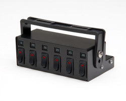 Whelen PCC6W Lighted Six Switch Box Control Panel
