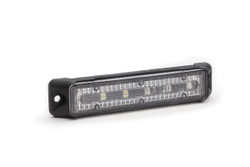 Emergency Vehicle 6-LED Ultra Thin Flush Surface Mount Light Head by STL, Linear Style LEDs, 5 year warranty